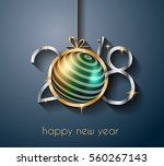 2018 happy new year background... | Shutterstock .eps vector #560267143