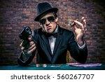Cool Mafia Gangster With A Gun...