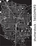 black   white map of las vegas  ... | Shutterstock . vector #560269693