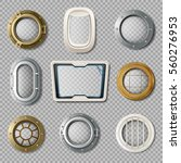realistic set of metal and... | Shutterstock .eps vector #560276953
