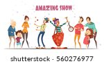 circle clowns amazing public... | Shutterstock .eps vector #560276977