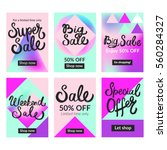 sale banners set and ads web... | Shutterstock .eps vector #560284327