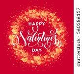 premium valentine hearts wreath ... | Shutterstock .eps vector #560286157
