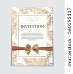 vintage wedding invitation with ... | Shutterstock .eps vector #560293117