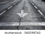 traffic signal go straight... | Shutterstock . vector #560298763