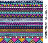multicolor tribal vector... | Shutterstock .eps vector #560302777