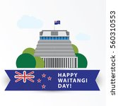 happy waitangi day   6 february.... | Shutterstock .eps vector #560310553