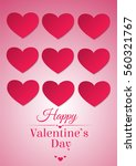 happy valentines day paper... | Shutterstock .eps vector #560321767