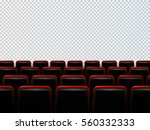 cinema seats isolated on... | Shutterstock .eps vector #560332333