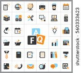 set of office icons. contains... | Shutterstock .eps vector #560333623