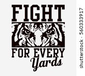 fight tiger typography  tee...