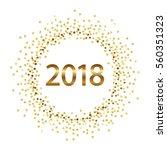 golden splash or glittering... | Shutterstock .eps vector #560351323