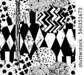 seamless geometric pattern... | Shutterstock .eps vector #560352673
