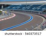 motor racing track. turning... | Shutterstock . vector #560373517