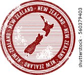 vintage new zealand country... | Shutterstock .eps vector #560379403
