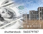 industrial collage with dollars ...   Shutterstock . vector #560379787