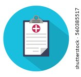 medical clipboard icon in... | Shutterstock .eps vector #560385517