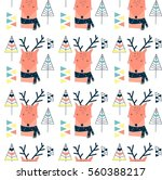 deer pattern  vector... | Shutterstock .eps vector #560388217