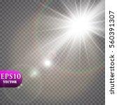 vector transparent sunlight...   Shutterstock .eps vector #560391307