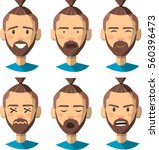set of the emotion man. happy ... | Shutterstock .eps vector #560396473