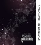 polygonal background with... | Shutterstock .eps vector #560409673