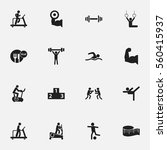 set of 16 active icons....