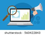 market research online using... | Shutterstock .eps vector #560422843