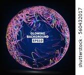 color sphere composition vector | Shutterstock .eps vector #560432017