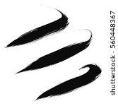 vector set of grunge brush... | Shutterstock .eps vector #560448367