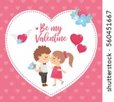 valentine's day greeting card.... | Shutterstock .eps vector #560451667