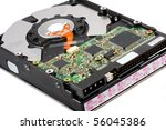 hard drive  isolated on a white ... | Shutterstock . vector #56045386