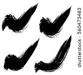 vector set of grunge brush... | Shutterstock .eps vector #560473483