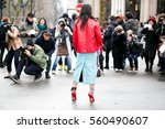 paris march 9  2016. tina leung ... | Shutterstock . vector #560490607