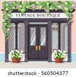 graphic vintage boutique.... | Shutterstock .eps vector #560504377