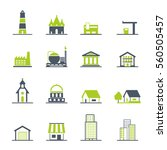 building icons set. vector... | Shutterstock .eps vector #560505457