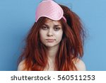 morning woman. funny portrait... | Shutterstock . vector #560511253