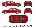 Red Sport Car Vector Template....