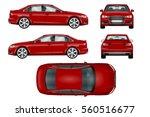 red sport car vector template.... | Shutterstock .eps vector #560516677