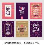 vector set of valentine's day... | Shutterstock .eps vector #560516743