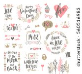 valentine's day hand drawn... | Shutterstock .eps vector #560516983