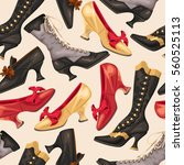 shoes and boots seamless | Shutterstock .eps vector #560525113