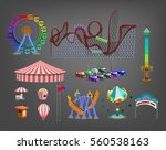 amusement park for children... | Shutterstock .eps vector #560538163