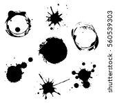 vector set ink blots | Shutterstock .eps vector #560539303