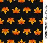 maple leaf pattern seamless...   Shutterstock .eps vector #560542657
