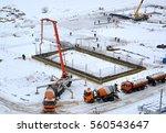 construction of a new school... | Shutterstock . vector #560543647