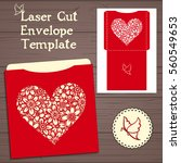 lazercut vector wedding... | Shutterstock .eps vector #560549653