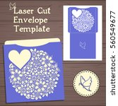 lazercut vector wedding... | Shutterstock .eps vector #560549677