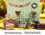 wedding decorations | Shutterstock . vector #560565463