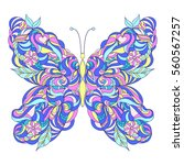 Motley Abstract Butterfly On...