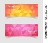 banner with polygonal mosaic... | Shutterstock .eps vector #560569207